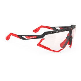 Rudy Project Defender Gafas, fire red matte/bumpers black/smoke black